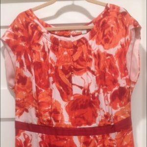 Boden Viscose Silk Blend size 16 floral dress